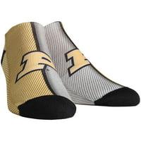 Purdue Boilermakers Rock Em Socks Women's Campus Stripe Ankle Socks - S/M