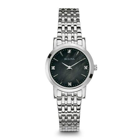 Bulova Women's Stainless Steel Diamond Accent Watch 96P148