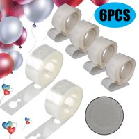 2Pcs Balloon Decorations Strip Kit for Arch Garland 16.4Ft Balloon Tape Strip, 400 Dots Glue, Double Hole Decorating Balloons Tape Strip for Party Wedding Birthday Xmas Baby Shower DIY