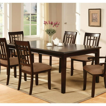 Furniture of America Swali Dining Table in Dark (Ronbow Dark Cherry)
