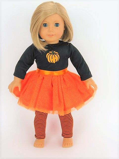 Orange Glitter Pumpkin Tutu Dress Halloween Costume| Fits 18  American Girl Dolls Madame  sc 1 st  Walmart : pumpkin girl costume  - Germanpascual.Com