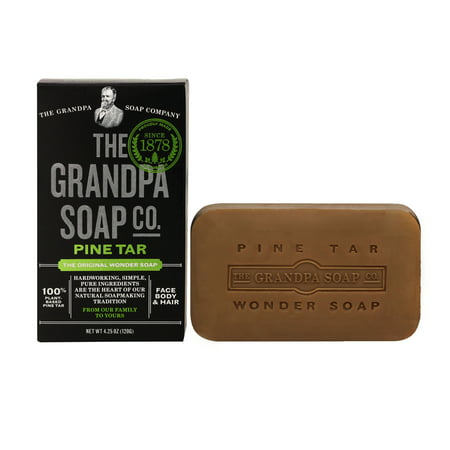 (3 pack) Grandpa Soap Pine Tar 4.25 Ounce (Best Pine Tar Soap)