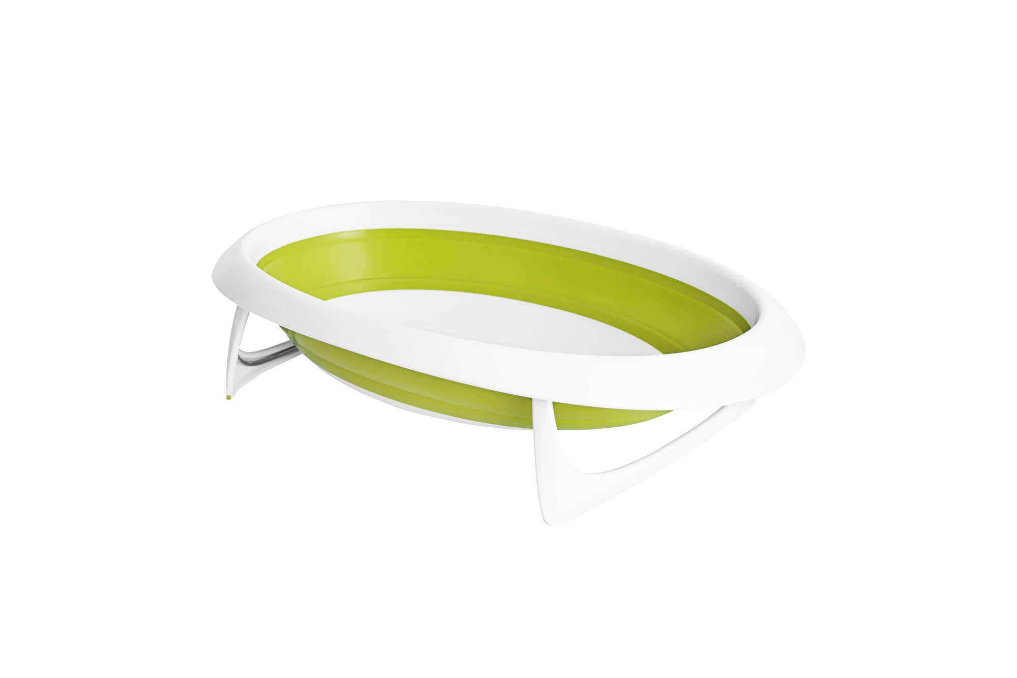 BOON Naked Collapsible Bathtub Green White by Boon