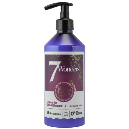 Organics Nourishing Conditioner - 7 Wonders Nourishing Leave In Conditioner for Curly Hair with Pure Organic Oils of Almond, Marula, Argan, Olive, Macadamia, Coconut & Jojoba 16.9 fl. Oz.