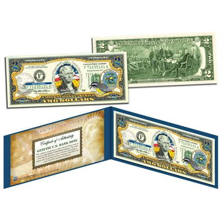 VIRGIN ISLANDS $2 Statehood VI Territories Two-Dollar U.S. Bill Legal