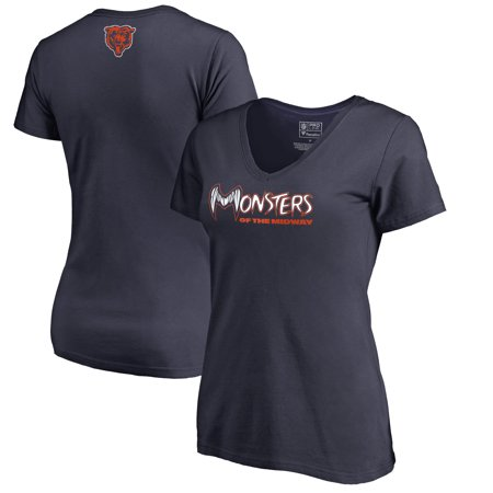 Chicago Bears NFL Pro Line by Fanatics Branded Women's Monsters V-Neck T-Shirt -