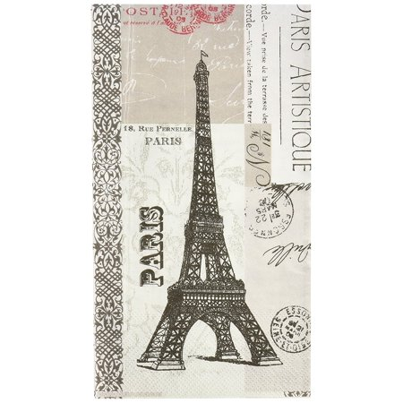 Paris Artistique Paper Guest Towel, 15-Pack, Vintage inspired design By Paperproducts Design Ship from US