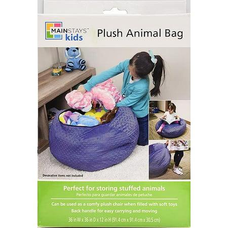 hot sale online 83a11 5716d Mainstays Kids Polyester Mesh Plush Animal Storage Bag