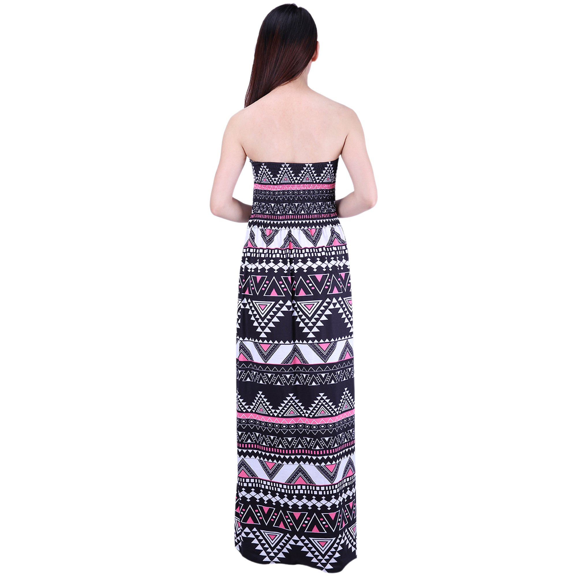 38c8adbf3361f HDE Women's Strapless Maxi Dress Tube Top Long Skirt Sundress Cover Up |  Walmart Canada