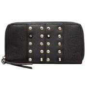 Religion Women's Studded Night Adder Purse Wallet One Size Black