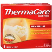 4 Pack - ThermaCare Heatwraps Menstrual Patches 3 Ea