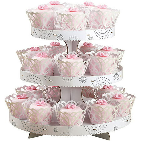 Round Wedding Cupcake Stand Kit With 24 Wraps and Cups Wilton Your Reception