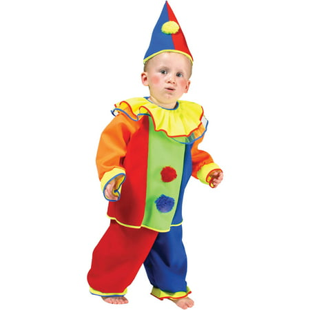 Baby Bobo Clown Child Halloween Costume, One Size, 4-6 - Scary Halloween Costumes For Babies