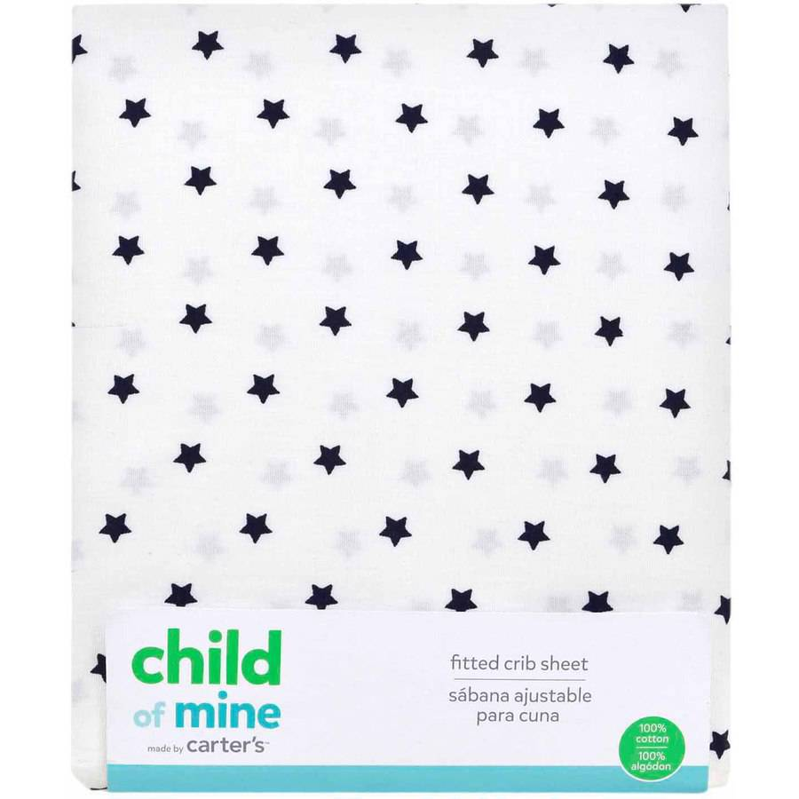 Child of Mine by Carter's Stars Fitted Crib Sheet