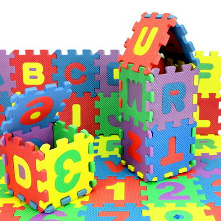 New Amusing 36Pcs Baby Child Number Alphabet Puzzle Foam Maths Educational Toy Gift ()
