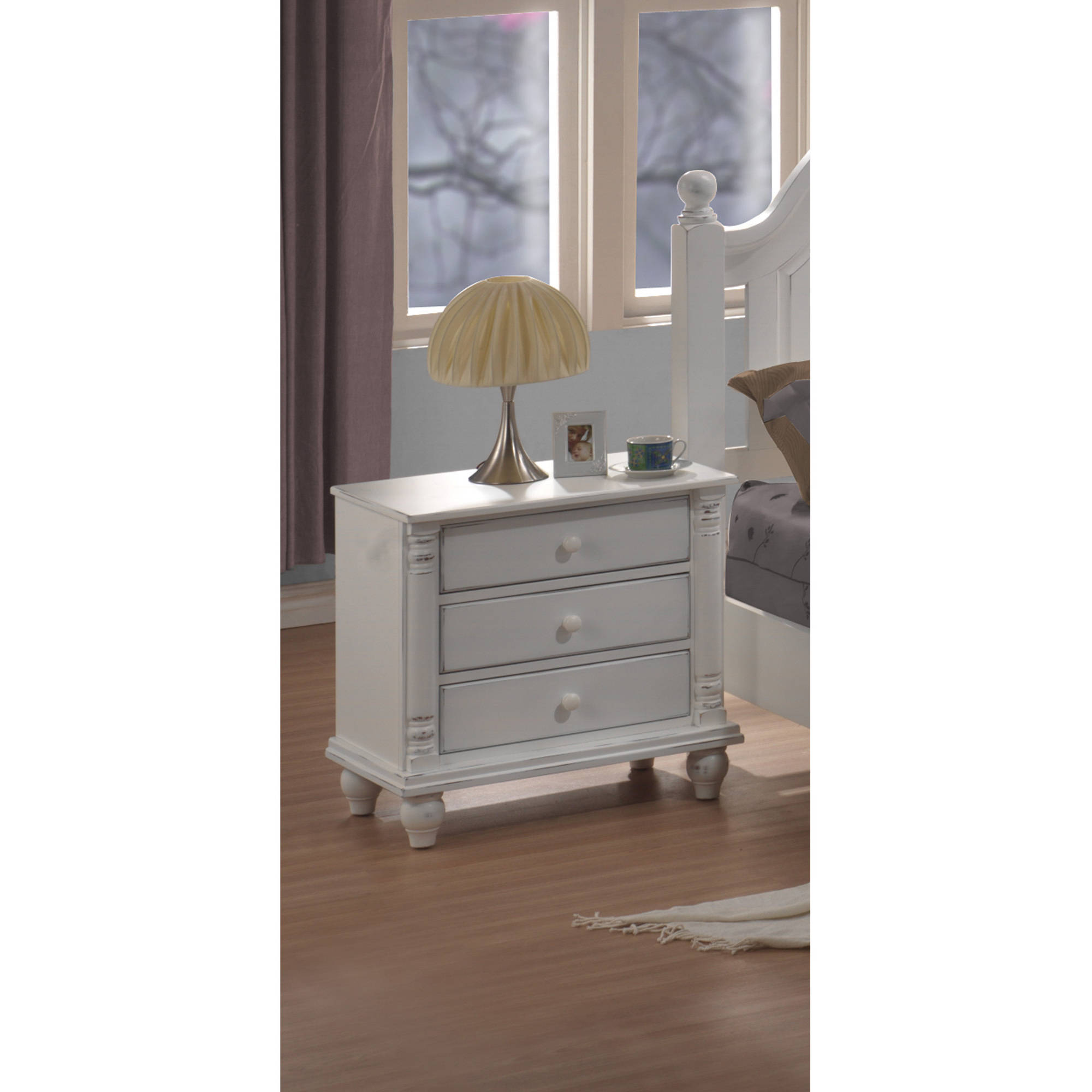 Coaster Company Kayla Collection Nightstand, White by Coaster Company