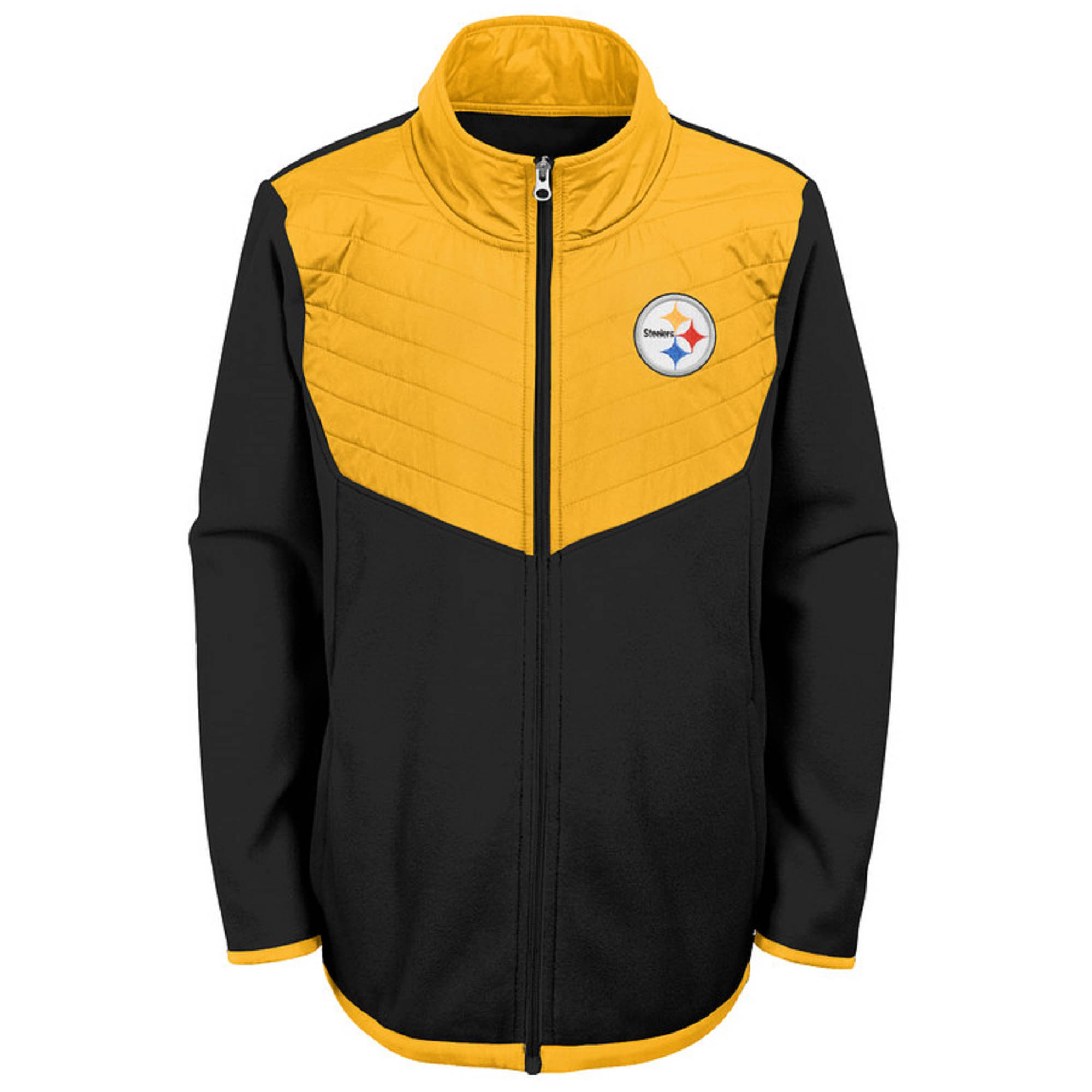 Youth Black/Gold Pittsburgh Steelers Polar Full-Zip Jacket