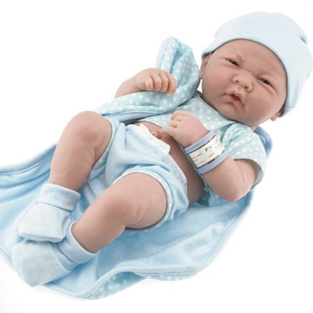 Jc Toys Berenguer Boutique La Newborn 14 Inch Life Like Real Boy Doll 9 Piece Gift Set  Blue