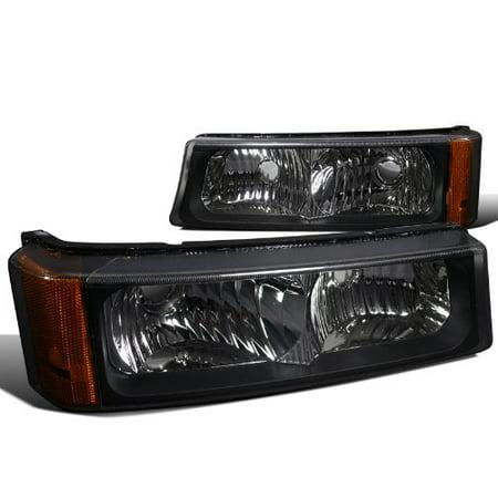 - Spec-D Tuning 2LB-SIV04JM-RS Chevy Silverado Lt Ls/ Avalanche 1500 2500 3500 Signal Bumper Lights Black