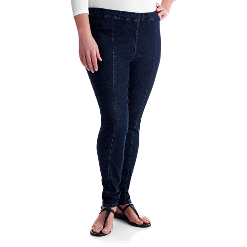 Just My Size Womens Plus Pull-On Denim Jeggings