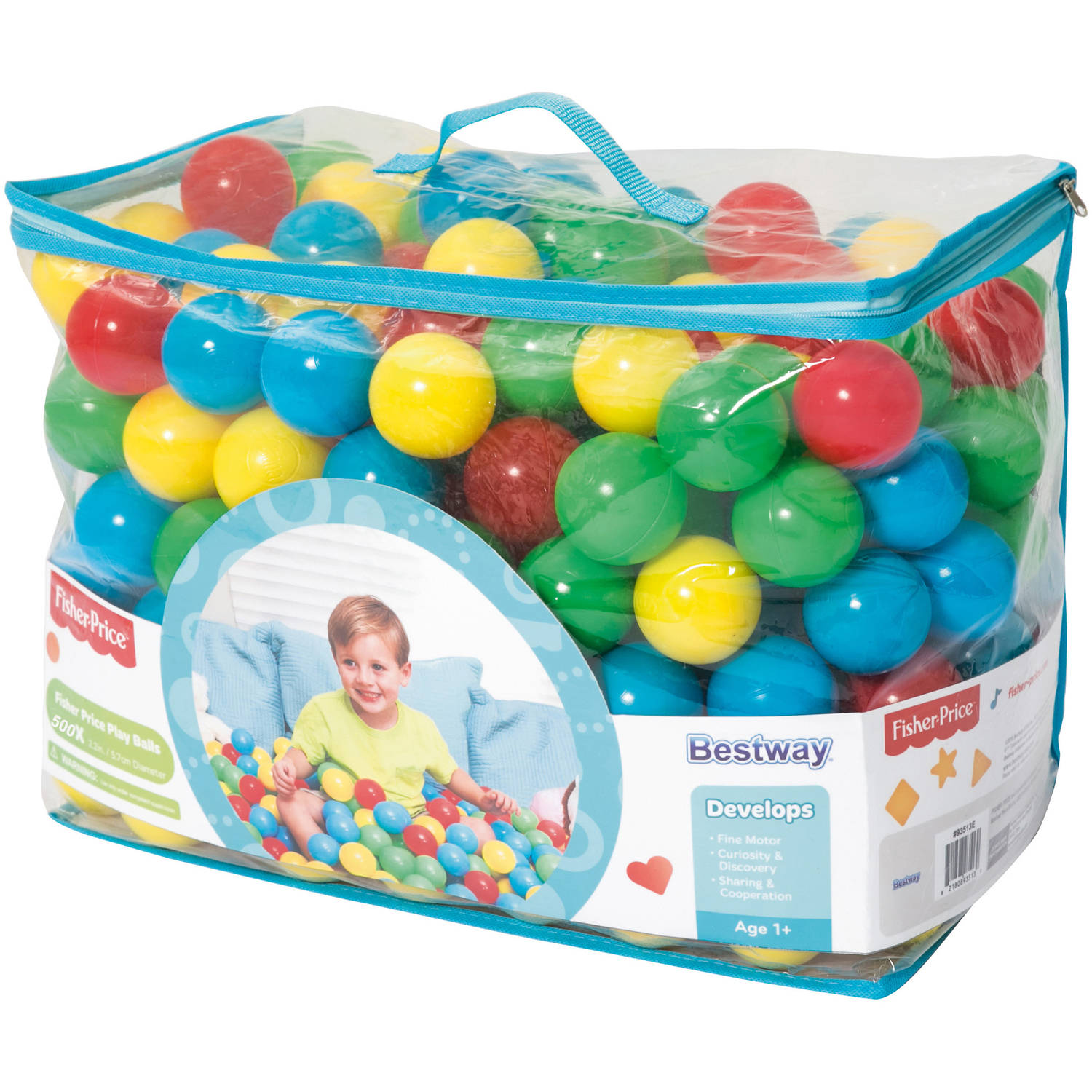 "Fisher Price 2.5"" Play Balls, 500pc by BESTWAY HONG KONG INTERNATIONAL LIMITED"