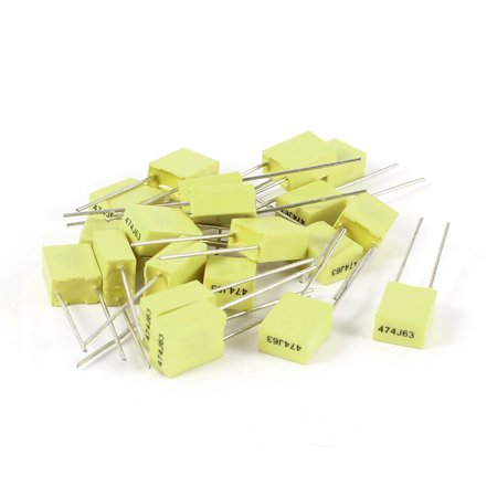 20 Pcs 5mm Pitch 63V 0.47uF 470NF 5% Tolerance Radial  Correction (63v Aluminum Electrolytic Capacitor Radial)