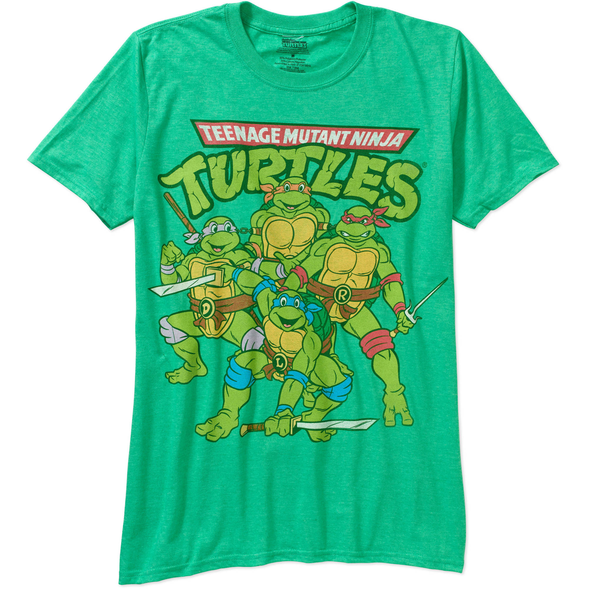 TMNT Group Men's Graphic Short Sleeve Tee