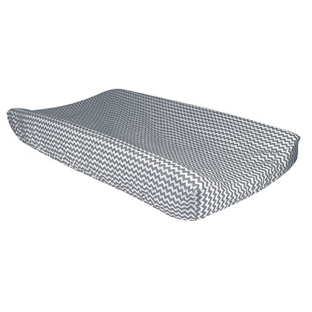 Bedtime Gray Chevron Changing Pad Cover ()
