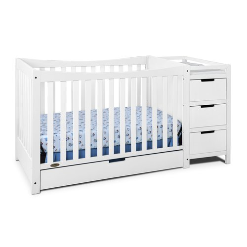 Graco Remi 4 in 1 Convertible Crib and Changer Combo White