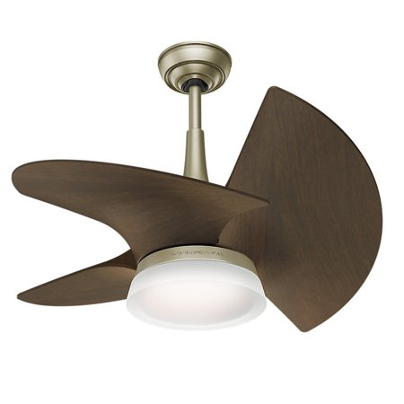 Casablanca 59138 Orchid Pewter Revival 30 in. Walnut Indoor Ceiling Fan with Light and Wall (Casablanca Wall Control)