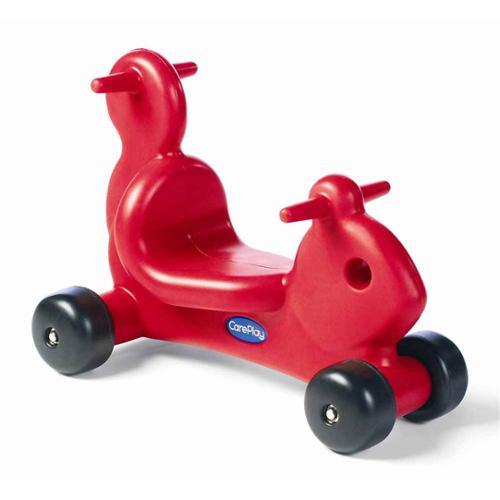 Kids Squirrel Ride-On in Red Plastic with Molded Handles (Purple)