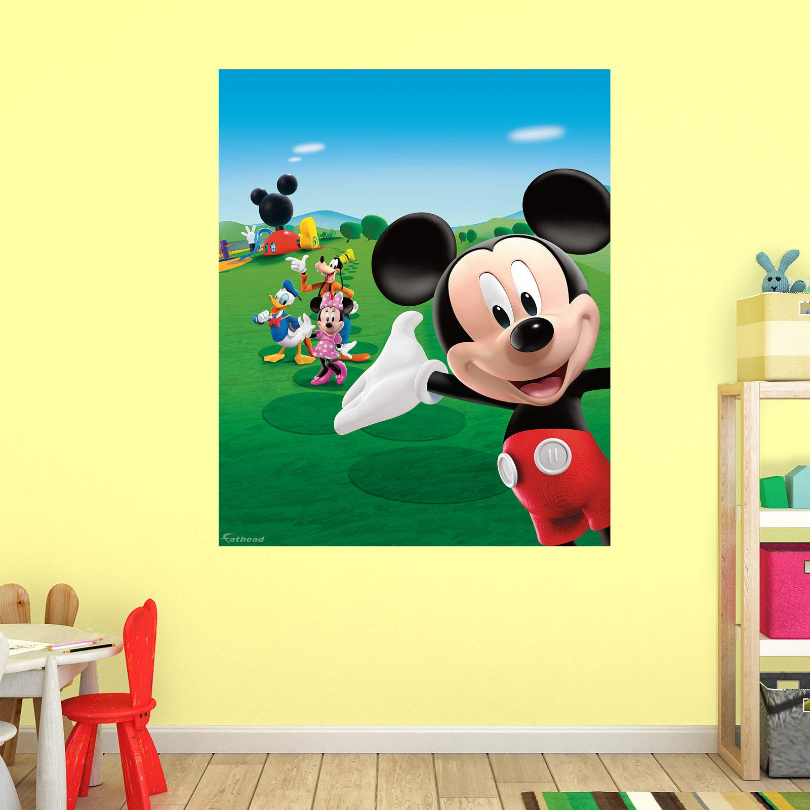 Mickey Mouse Clubhouse Fathead Mural - Walmart.com