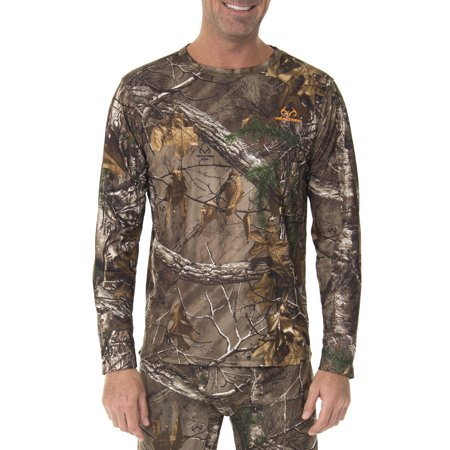 Realtree Men's Ultimate Cold Gear Fitted Baselayer Top (Hunting Gear For Men Real Tree)