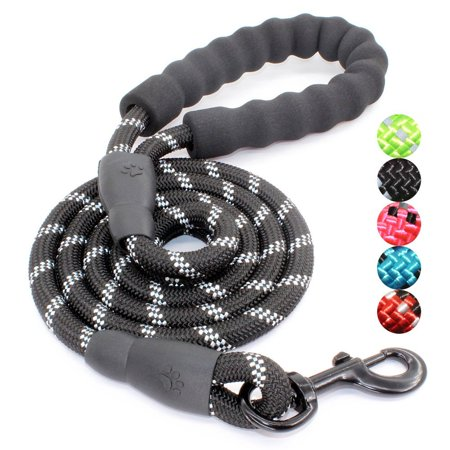 5FT Strong Dog Leash with Comfortable Padded Handle and Highly Reflective Threads for Medium and Large Dogs; Reflective leash; dog leashes for medium dog