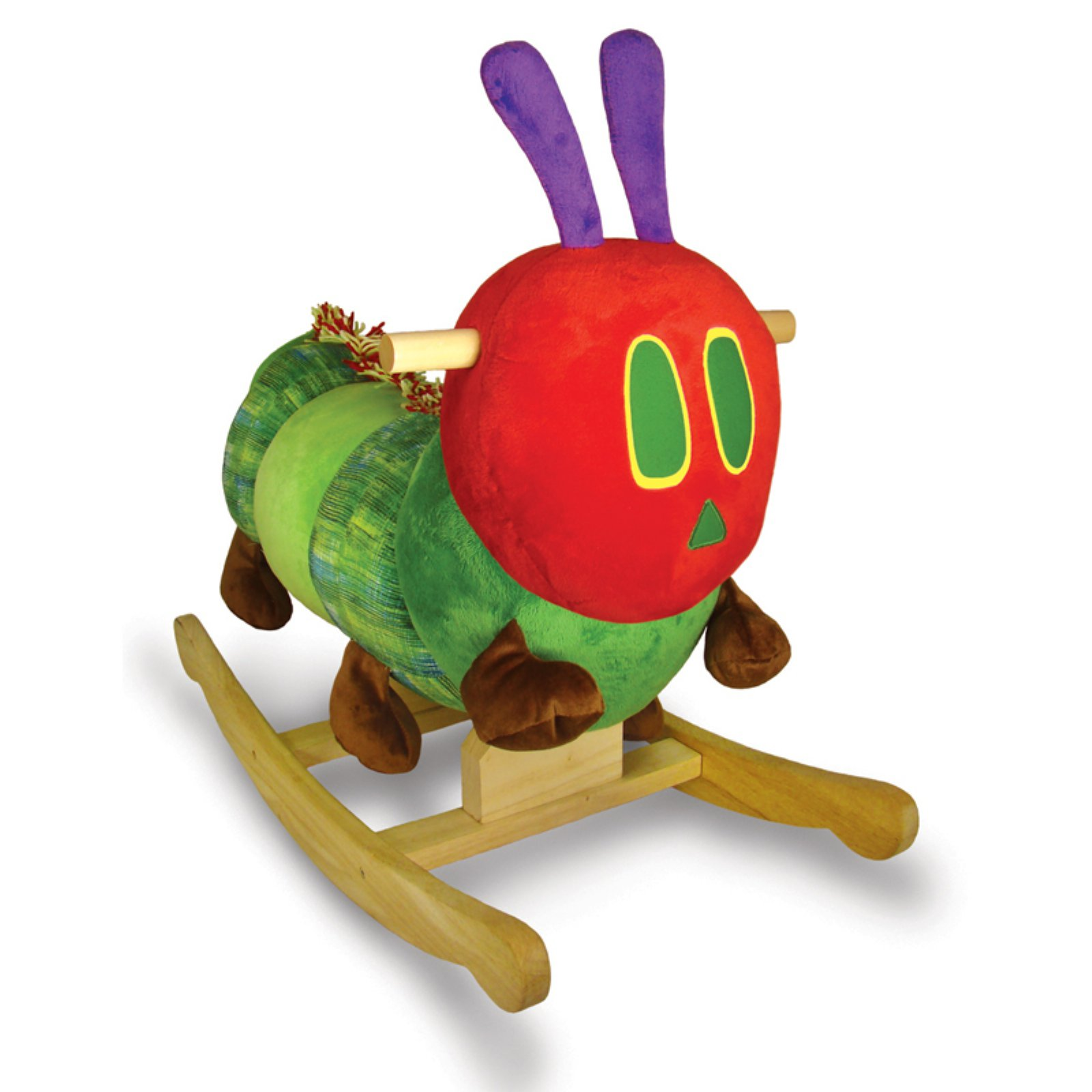Eric Carle Wood and Plush The Very Hungry Caterpillar Rocker
