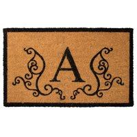 US Decor Monogram A Coir Door Mat