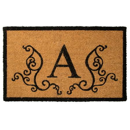 US Decor Monogram A Coir Door Mat ()