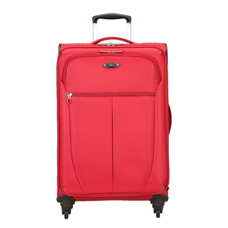 Skyway Luggage Co. Mirage Superlight 24-In 4W Exp Upright-Formula 1 Red Mirage Superlight 24-In 4W Exp Upright