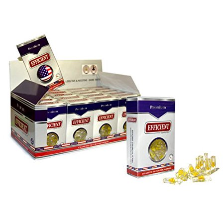 EFFICIENT Cigarette Filters, Filter Tips For Cigarette Smokers 80 Packs (2400 Filters)