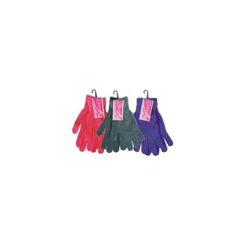 Bulk Buys Ladies Chenille Glove Assorted Colors - Case of 12