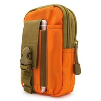 For Apple iPhone 6 Plus , iPhone 7 Plus , iPhone 8 Plus 5.5 ~ XL Large Multipurpose Tactical Cover Smartphone Holster EDC Security Pack Carry Case Pouch Belt Waist Bag Gadget Money Pocket - Orange