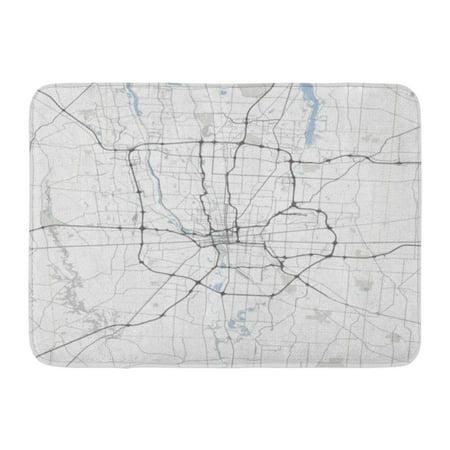 GODPOK Cartography Street Map Columbus City Ohio Roads Capital Municipality Rug Doormat Bath Mat 23.6x15.7 - Columbus Ohio Halloween Stores