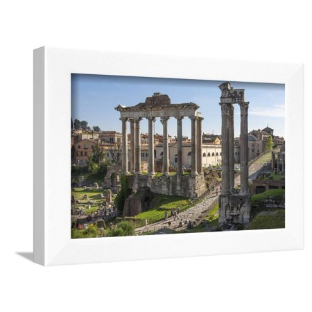 Ancient Roman Road Traverses the Columns and Ruins in the Forum of Ancient Rome, Rome, Lazio, Italy Framed Print Wall Art By James Emmerson - Plastic Roman Columns For Sale