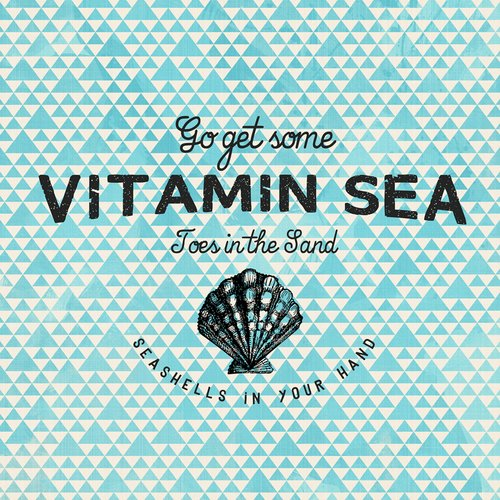 Buy Art For Less 'Go Get Some Vitamin Sea' by Brandi Fitzgerald Graphic Art on Wrapped Canvas
