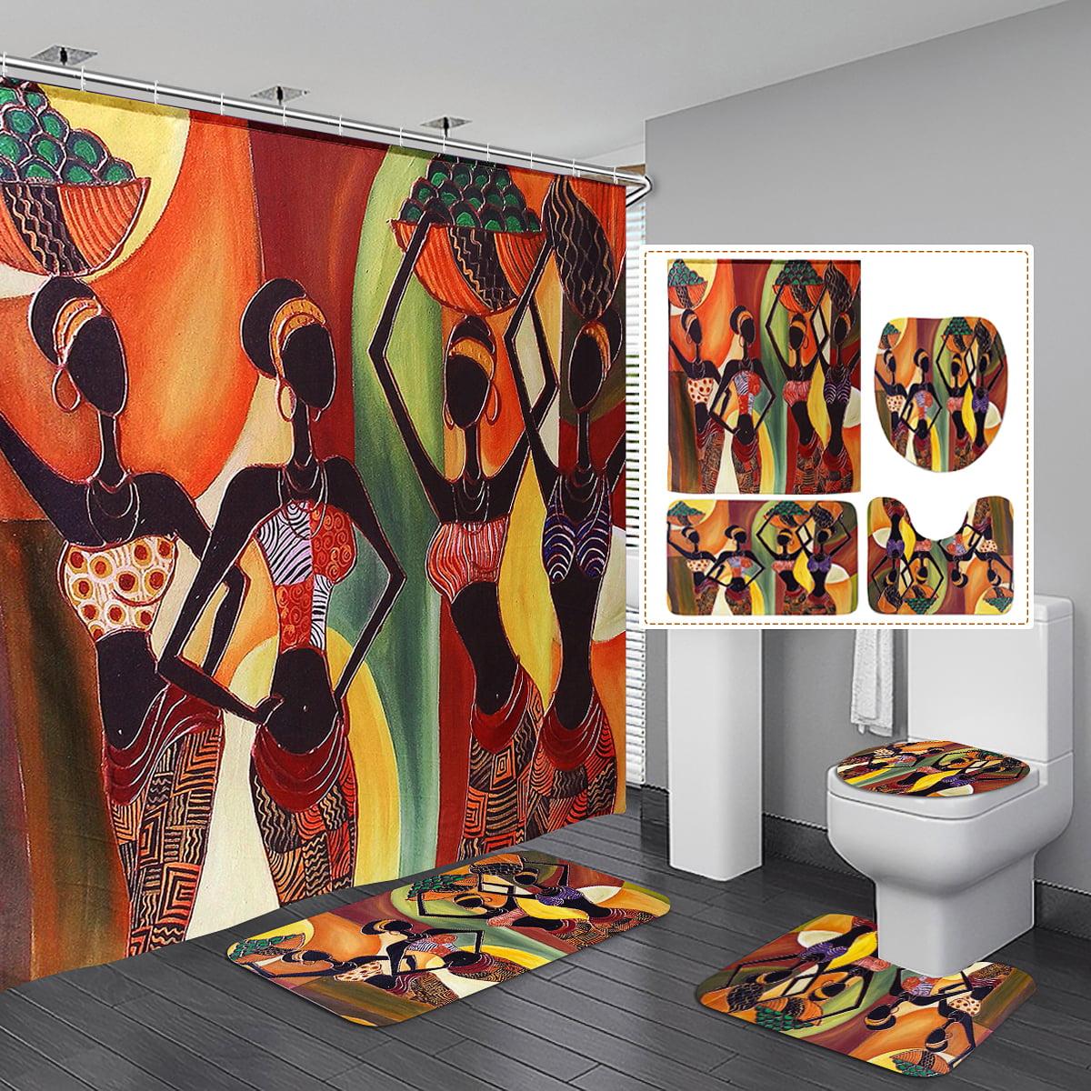 African Woman Waterproof Polyester Shower Curtain Art Decor Afrocentric In Tribal Dresses 60 X 72 Walmart Com Walmart Com