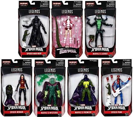 Spider-Man Marvel Legends Lizard Series Set of 7 Action Figures by