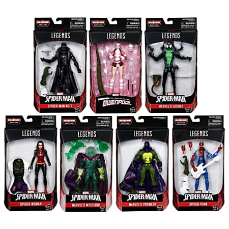 Spider-Man Marvel Legends Lizard Series Set of 7 Action Figures - Spider Man Lizard