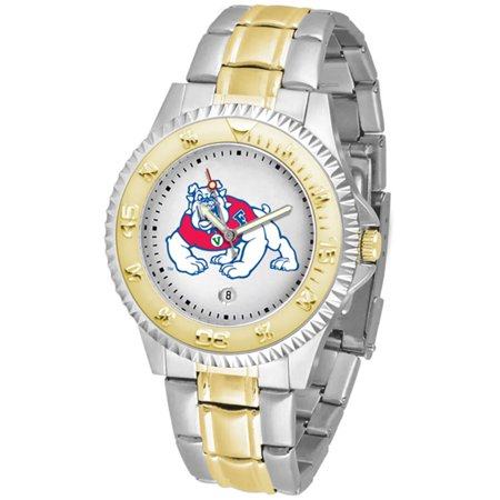Linkswalker Mens Fresno State Bulldogs Competitor Two Tone Watch