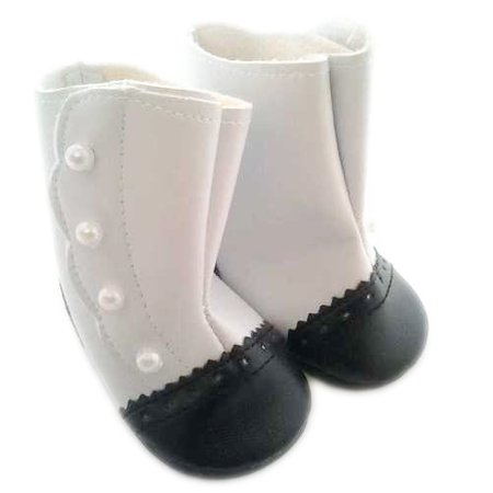 My Brittany's Black And White Victorian Boots For American Girl Dolls (White Boots For Girl)