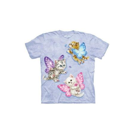 The Mountain Kids 100% Cotton Butterfly Kitten Novelty T-Shirt NEW Butterfly Kids Light T-shirt